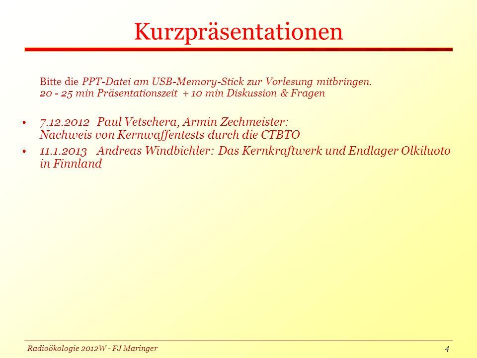 Radioökologie 2012W - FJ Maringer Kurzpräsentationen 5