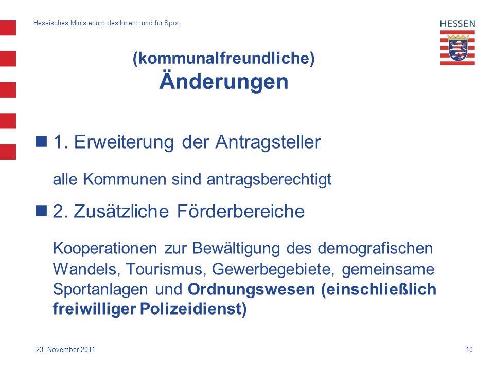 10 Hessisches Ministerium des Innern und für Sport 23.