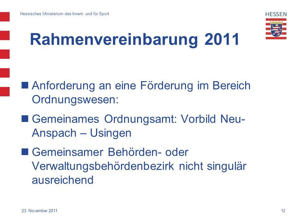 12 Hessisches Ministerium des Innern und für Sport 23.