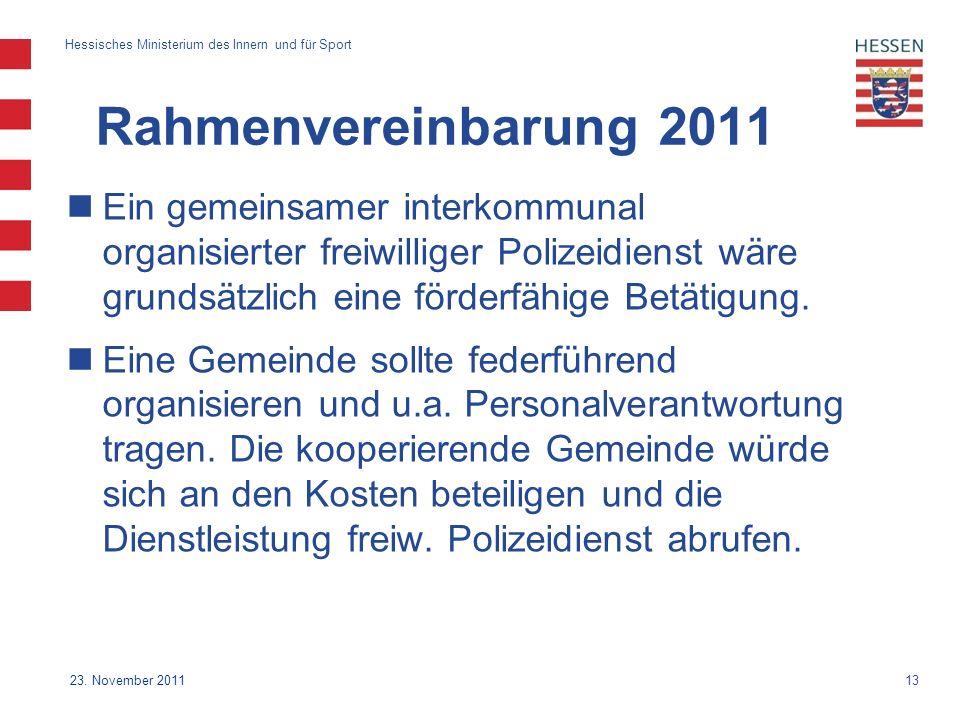 13 Hessisches Ministerium des Innern und für Sport 23.