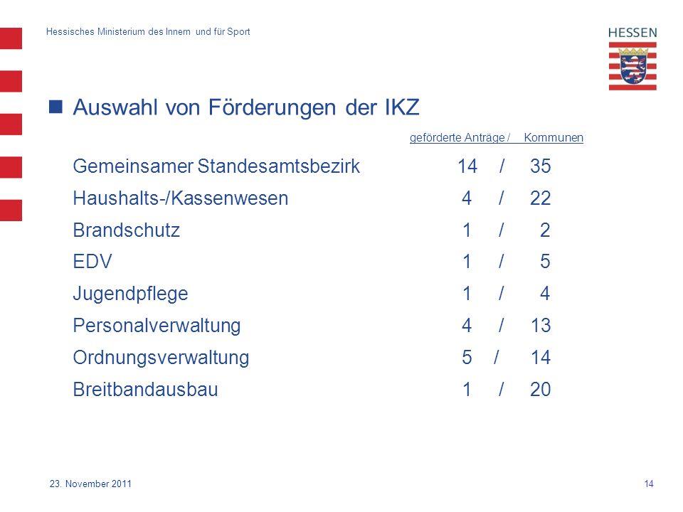 14 Hessisches Ministerium des Innern und für Sport 23.