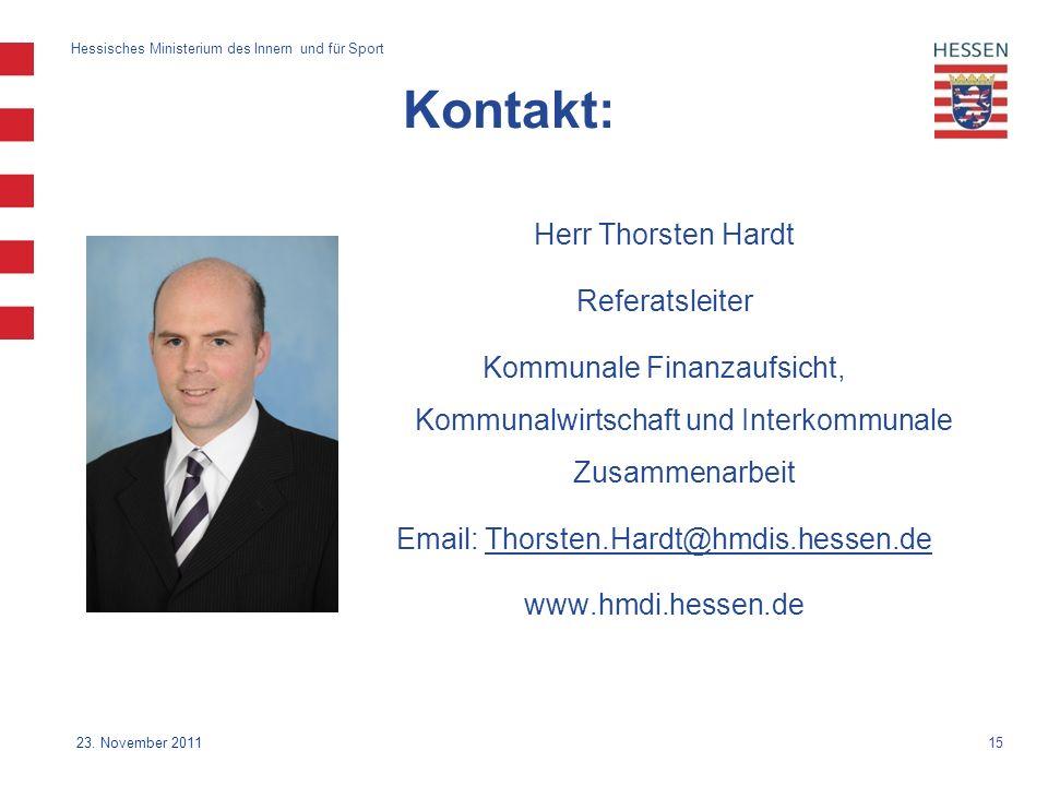 15 Hessisches Ministerium des Innern und für Sport 23.