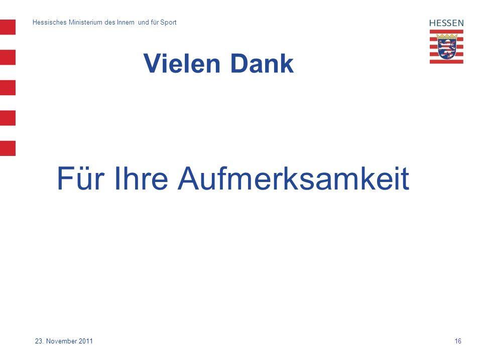 16 Hessisches Ministerium des Innern und für Sport 23.