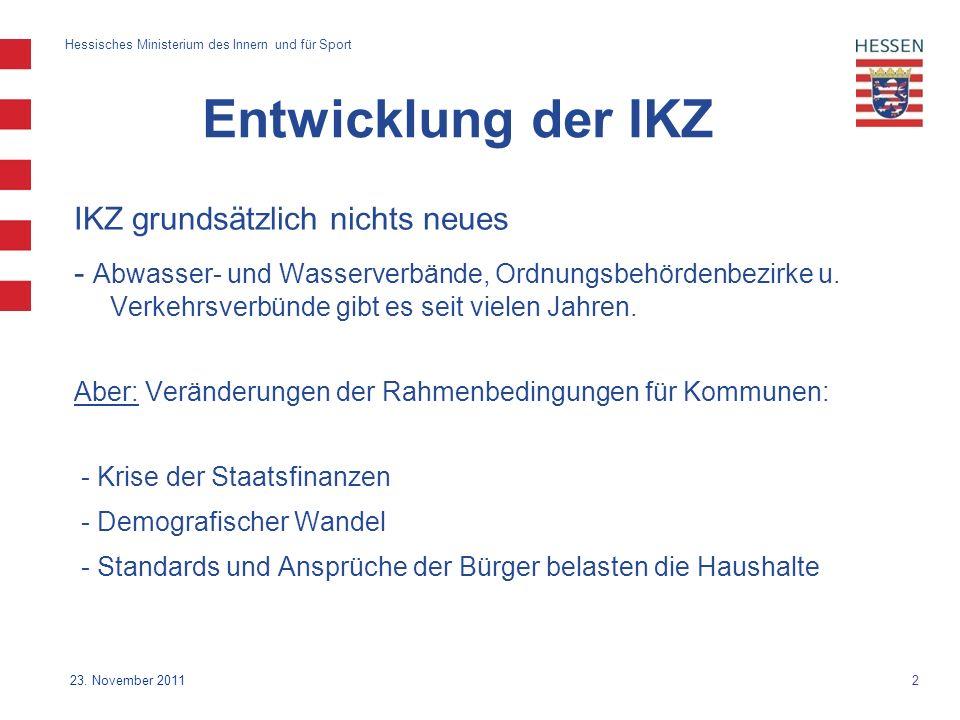 2 Hessisches Ministerium des Innern und für Sport 23.