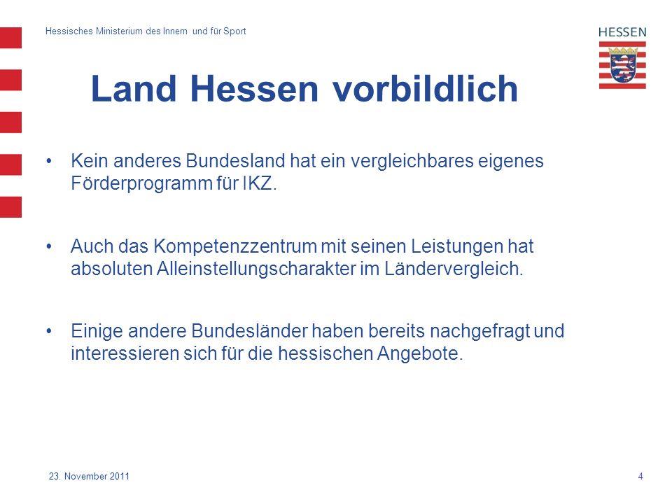4 Hessisches Ministerium des Innern und für Sport 23.