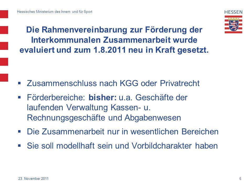 6 Hessisches Ministerium des Innern und für Sport 23.