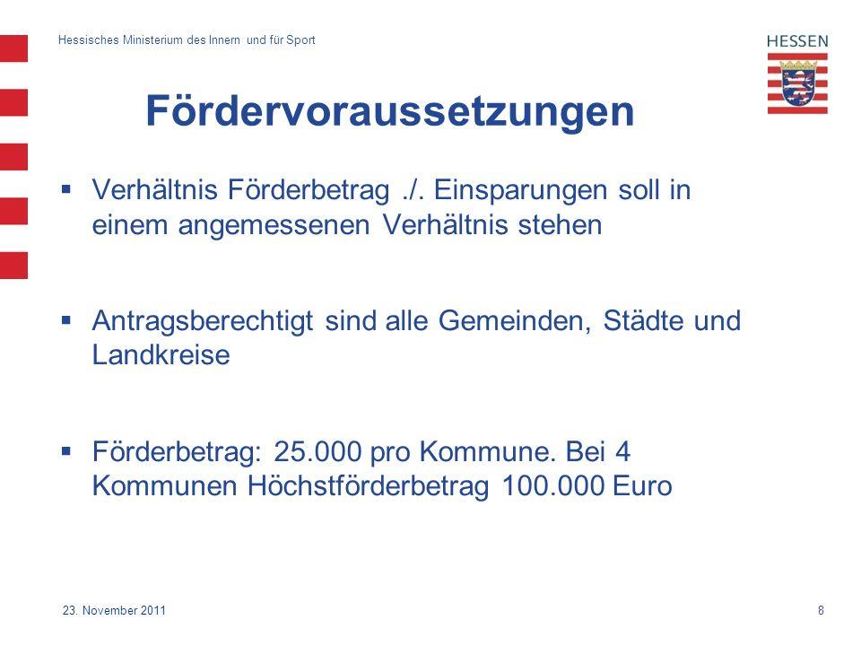 8 Hessisches Ministerium des Innern und für Sport 23.