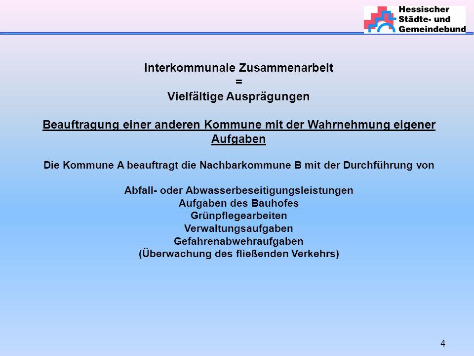 25 Interkommunale Zusammenarbeit Wann muss eine innerstaatliche (haushaltsrechtliche) oder eine europaweite Ausschreibung erfolgen.