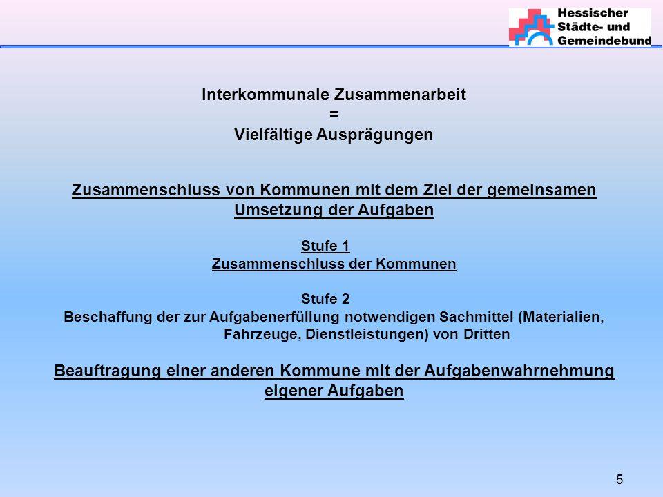 26 Interkommunale Zusammenarbeit Wann muss eine innerstaatliche (haushaltsrechtliche) oder eine europaweite Ausschreibung erfolgen.