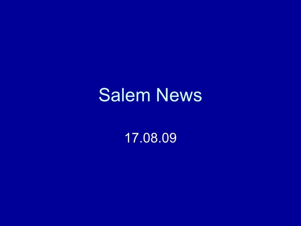 Salem News 17.08.09