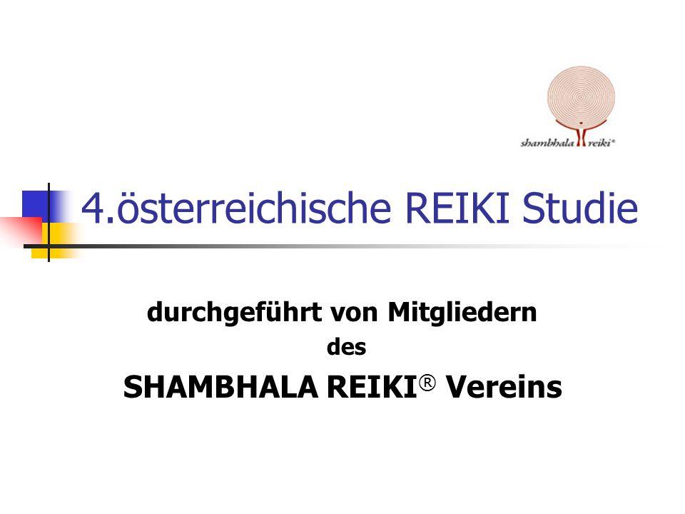 4.österreichische REIKI Studie durchgeführt von Mitgliedern des SHAMBHALA REIKI ® Vereins
