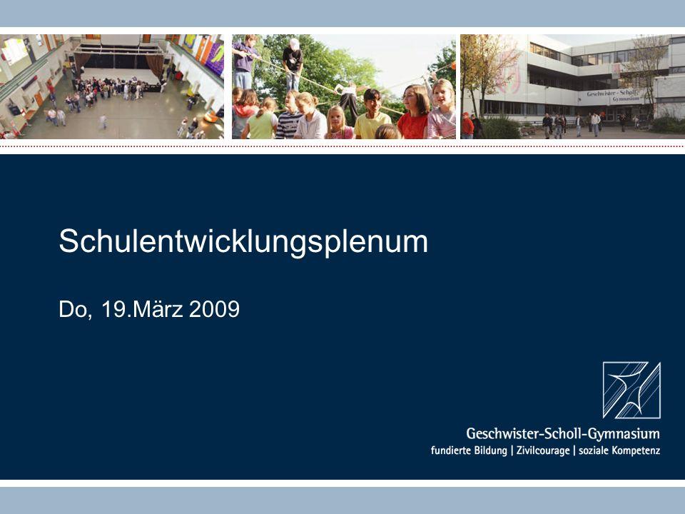 Schulentwicklungsplenum Do, 19.März 2009