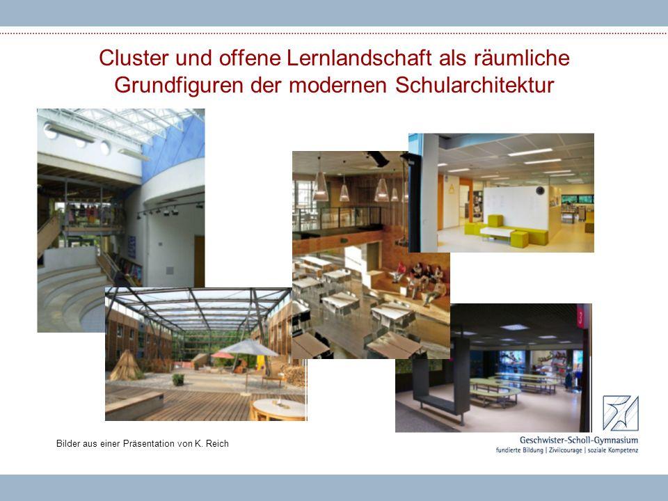 Cluster und offene Lernlandschaft als räumliche Grundfiguren der modernen Schularchitektur Bilder aus einer Präsentation von K. Reich