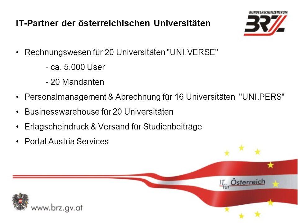 IT-Partner der österreichischen Universitäten Rechnungswesen für 20 Universitäten