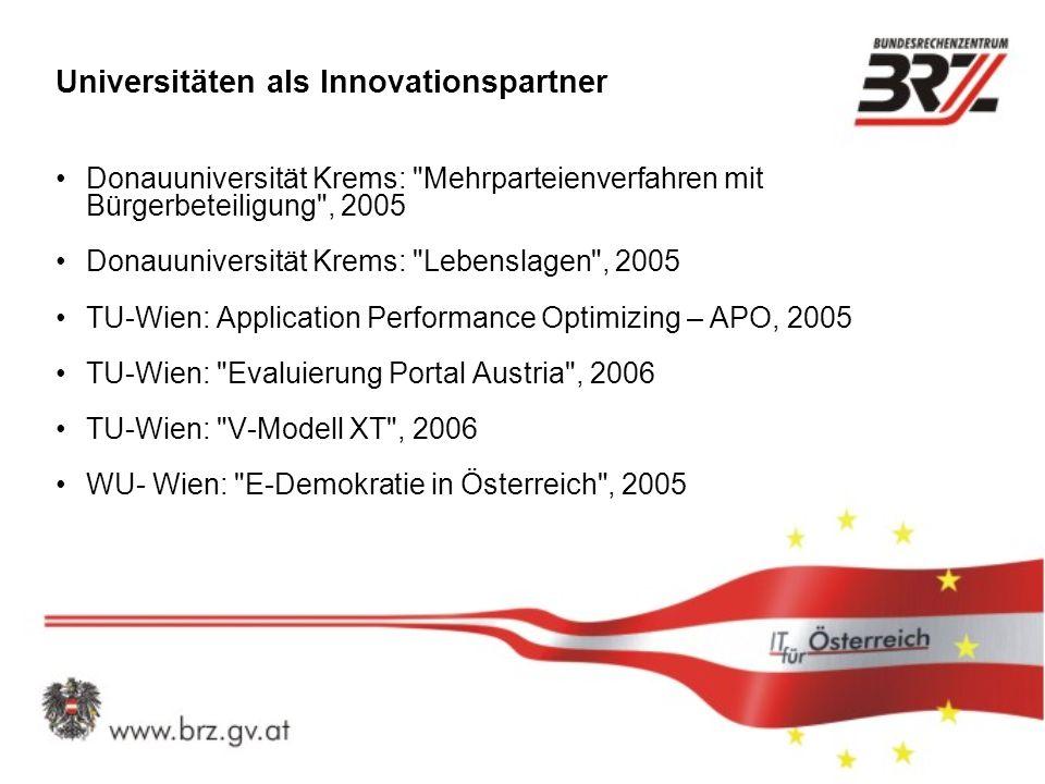 Universitäten als Innovationspartner Donauuniversität Krems: