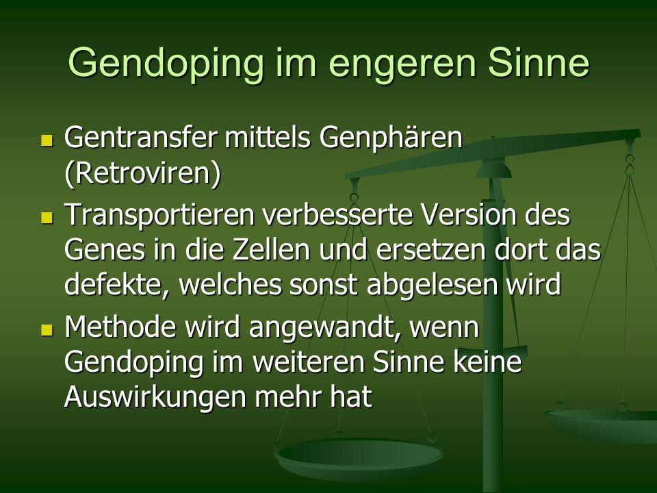 Gendoping im engeren Sinne Gentransfer mittels Genphären (Retroviren) Gentransfer mittels Genphären (Retroviren) Transportieren verbesserte Version de