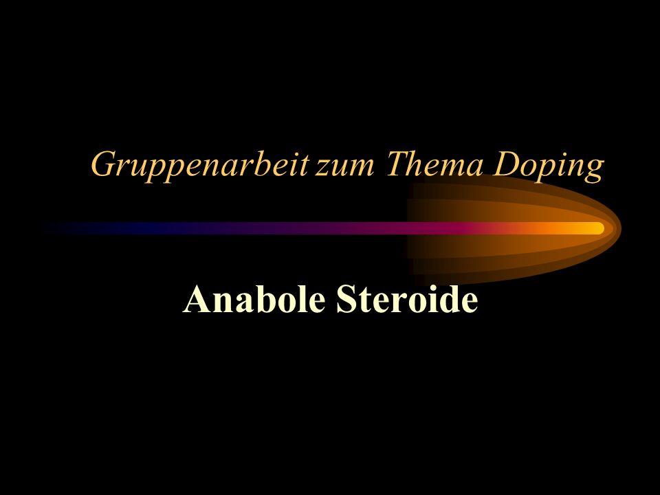 Gruppenarbeit zum Thema Doping Anabole Steroide