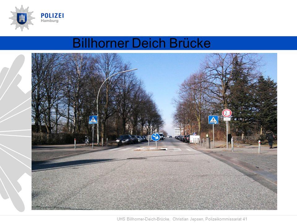 UHS Billhorner-Deich-Brücke, Christian Jepsen, Polizeikommissariat 41 Billhorner Deich Brücke 2.