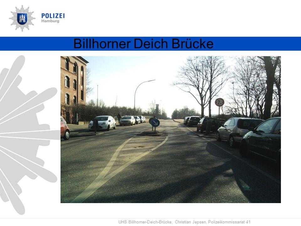 UHS Billhorner-Deich-Brücke, Christian Jepsen, Polizeikommissariat 41 Billhorner Deich Brücke B U S