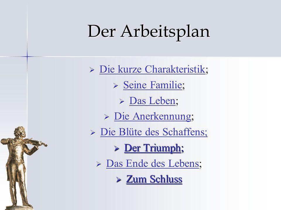 Die kurze Charakteristik Johann Strauß ist der große österreichische Komponist, der Geiger und der Dirigent.