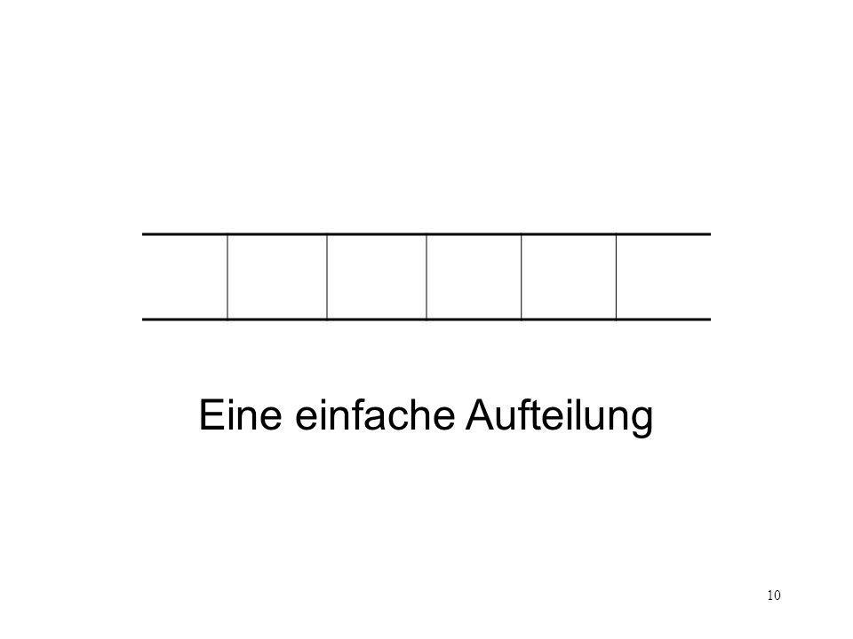 10 Counting Eine einfache Aufteilung