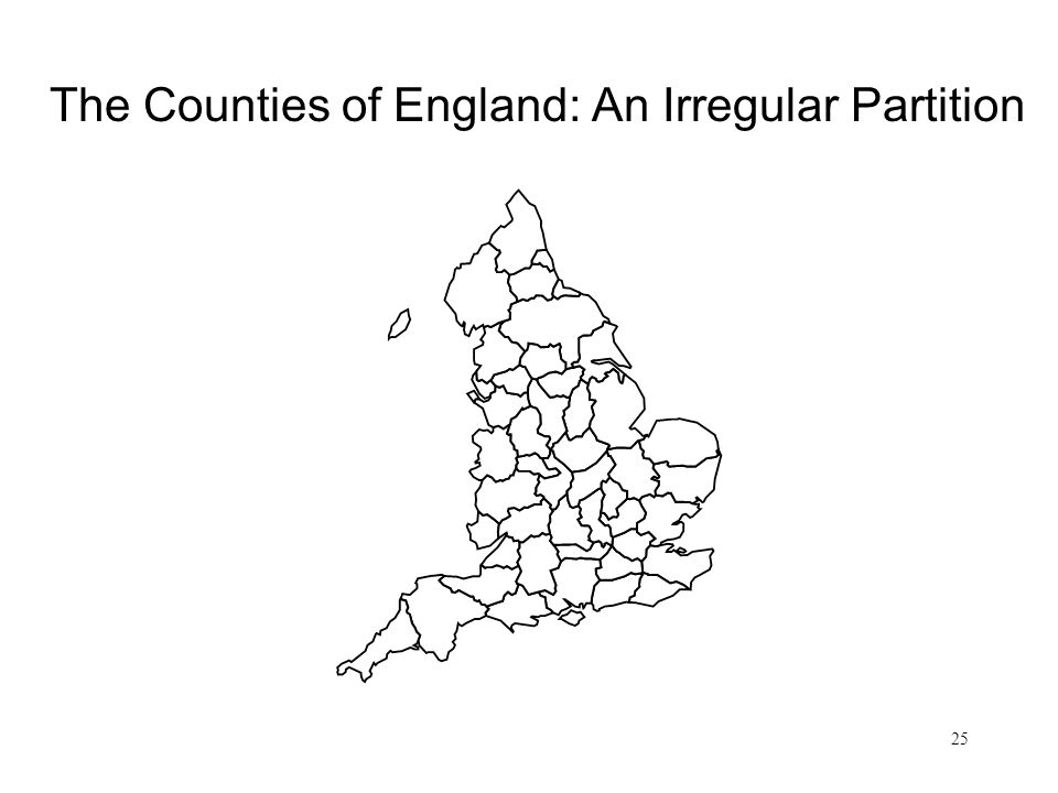 25 The Counties of England: An Irregular Partition