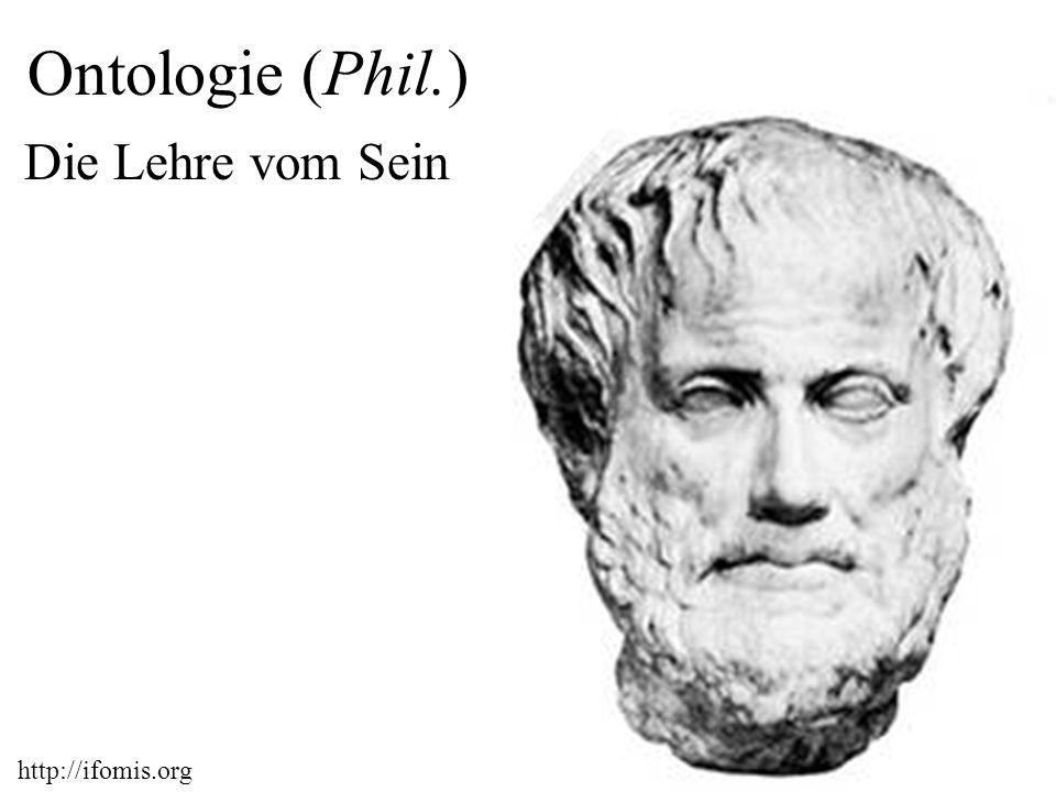 http://ifomis.org 2 Ontologie (Phil.) Die Lehre vom Sein