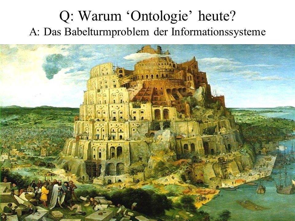 http://ifomis.org 4 Q: Warum Ontologie heute? A: Das Babelturmproblem der Informationssysteme