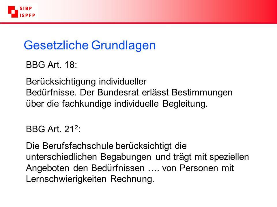 BBG Art. 18: Berücksichtigung individueller Bedürfnisse.