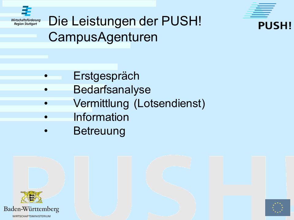 Die 3 PUSH. CampusAgenturen PUSH.