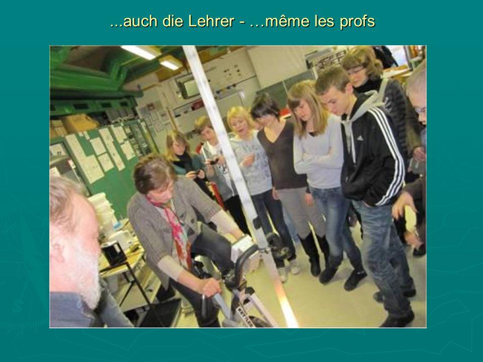 ...auch die Lehrer - …même les profs