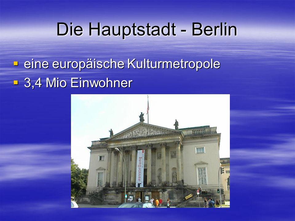 Die sechzehn Bundsländer im Überblick Baden-Württemberg Baden-Württemberg Bayern Bayern Berlin Berlin Brandenburg Brandenburg Bremen Bremen Hamburg Ha