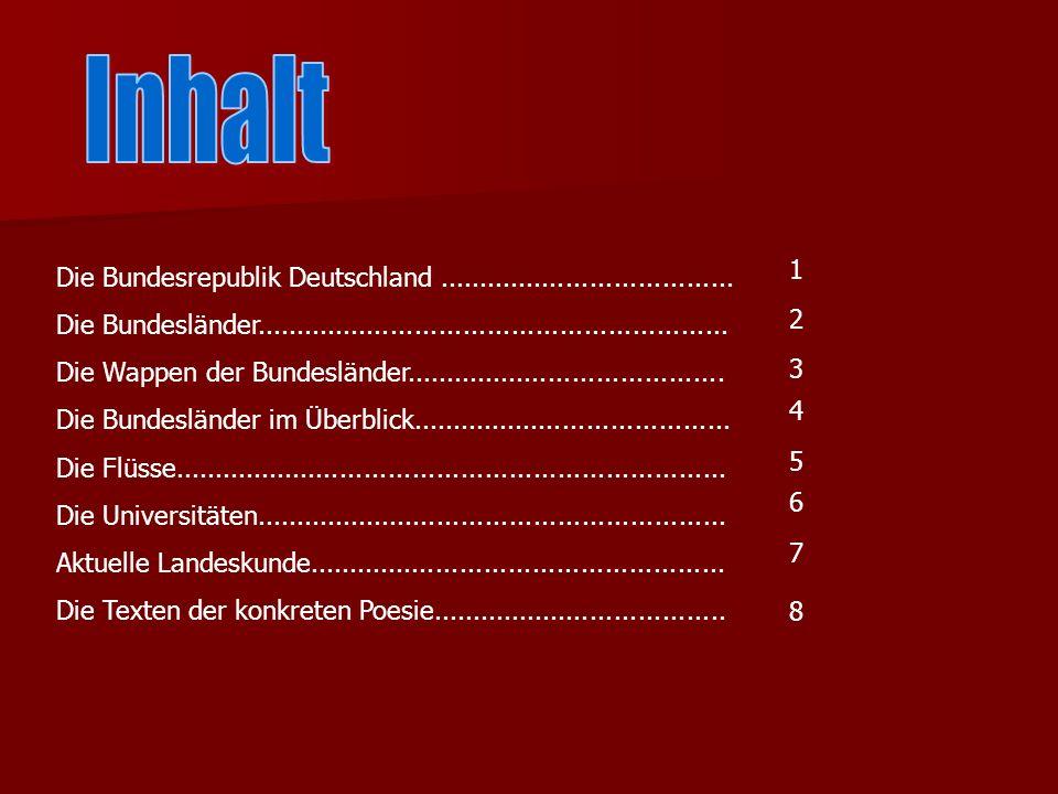 Die Bundesrepublik Deutschland.....................................