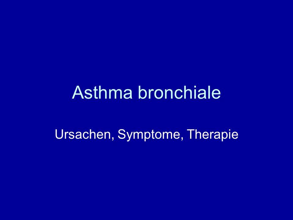 Asthma bronchiale Ursachen, Symptome, Therapie