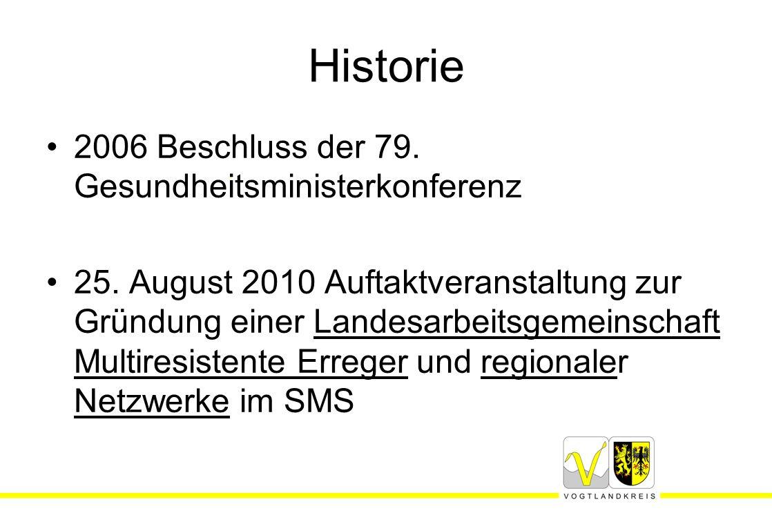 Historie 2006 Beschluss der 79. Gesundheitsministerkonferenz 25. August 2010 Auftaktveranstaltung zur Gründung einer Landesarbeitsgemeinschaft Multire