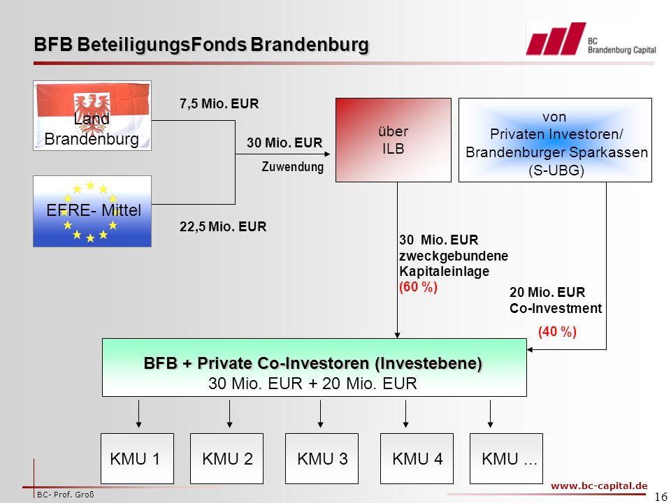 www.bc-capital.de BC- Prof.Groß 16 22,5 Mio. EUR 7,5 Mio.