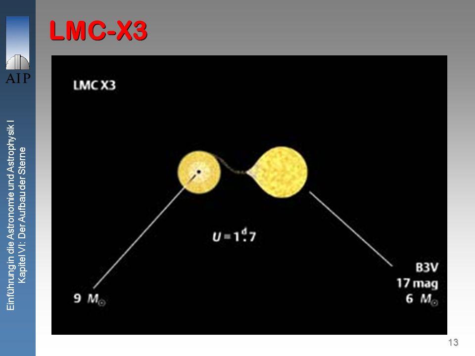 13 Einführung in die Astronomie und Astrophysik I Kapitel VI: Der Aufbau der Sterne LMC-X3