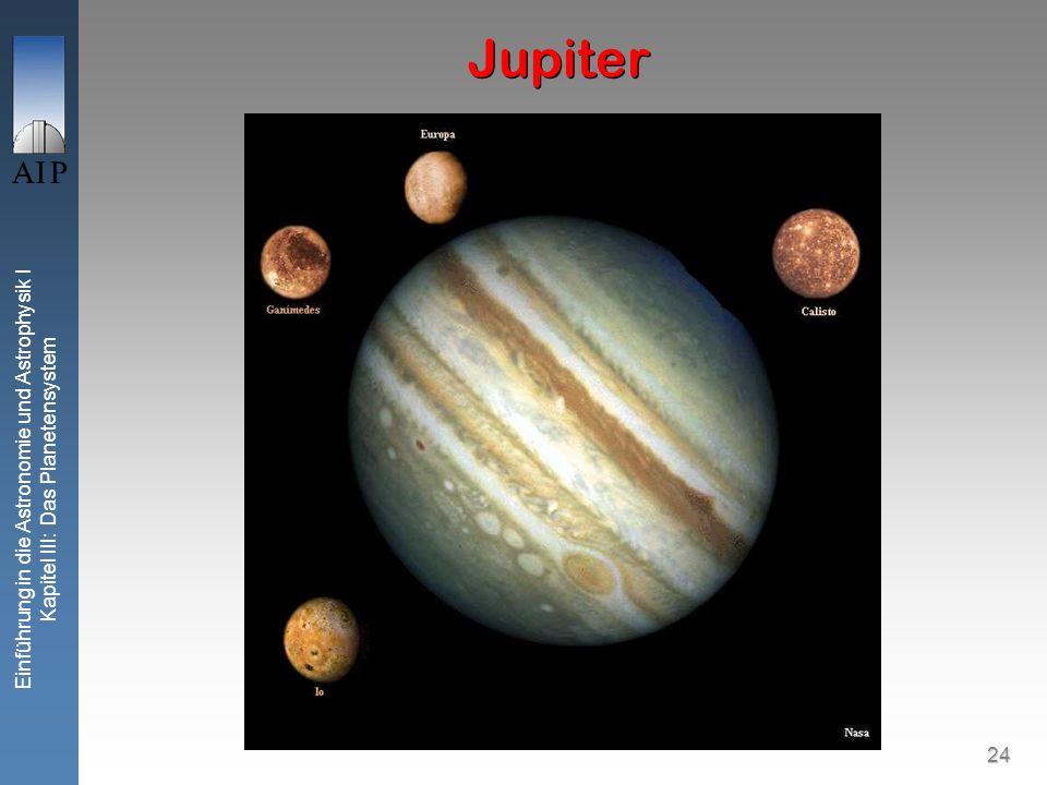 24 Einführung in die Astronomie und Astrophysik I Kapitel III: Das Planetensystem Jupiter