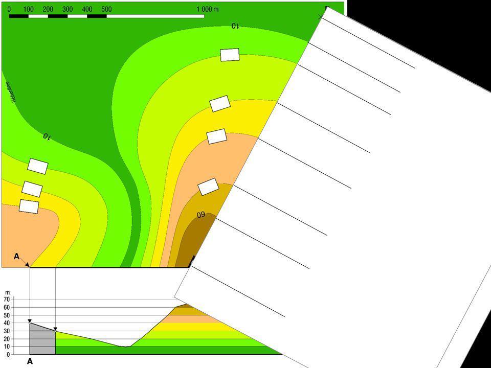 10 60 65 20 30 40 50 Höhenwerte zu den Linien schreiben