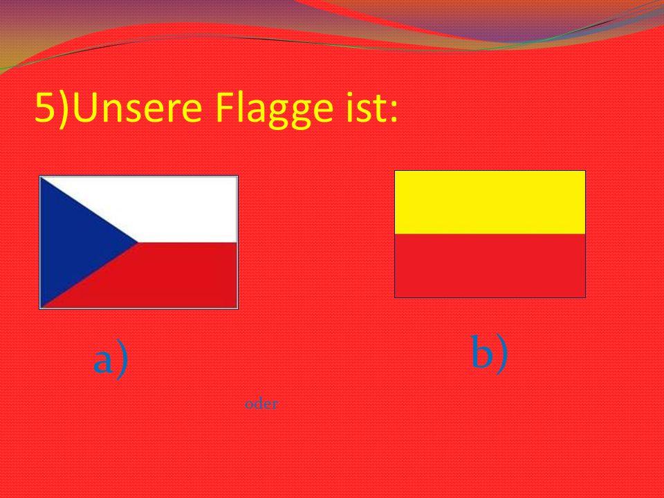 5)Unsere Flagge ist: a) oder b)