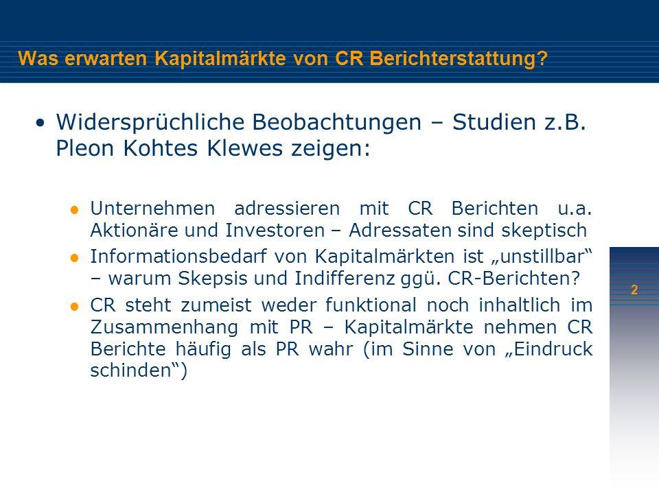 2 Was erwarten Kapitalmärkte von CR Berichterstattung.