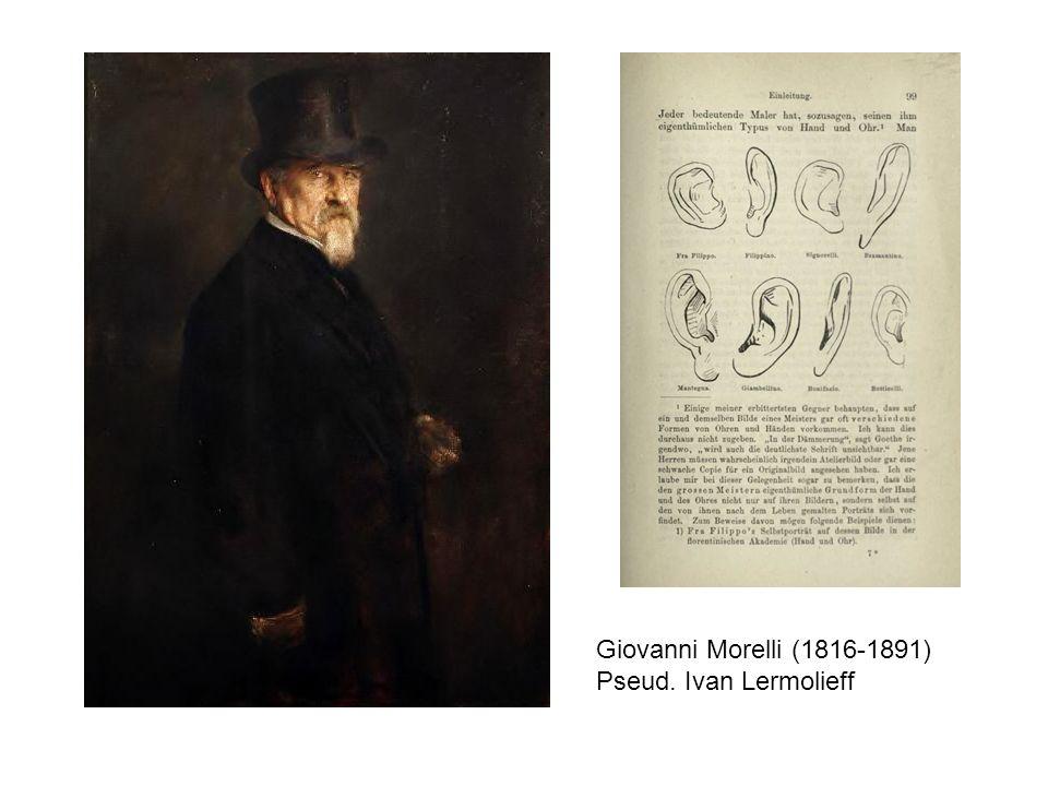 Giovanni Morelli (1816-1891) Pseud. Ivan Lermolieff