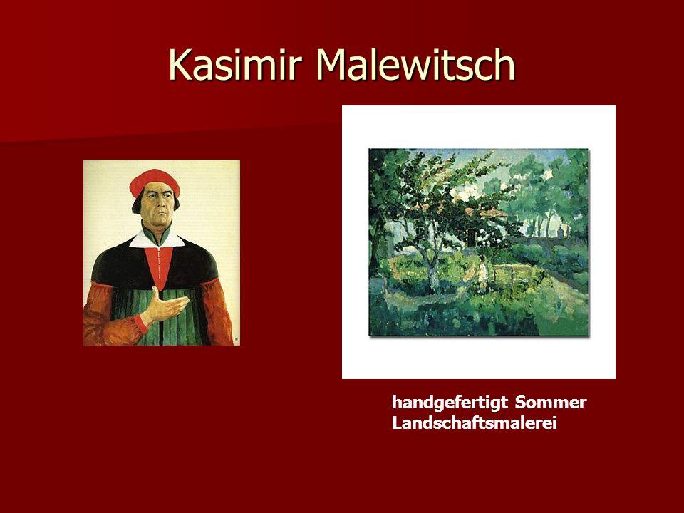 Kasimir Malewitsch handgefertigt Sommer Landschaftsmalerei
