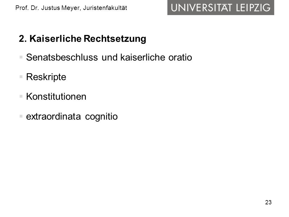 23 Prof.Dr. Justus Meyer, Juristenfakultät 2.