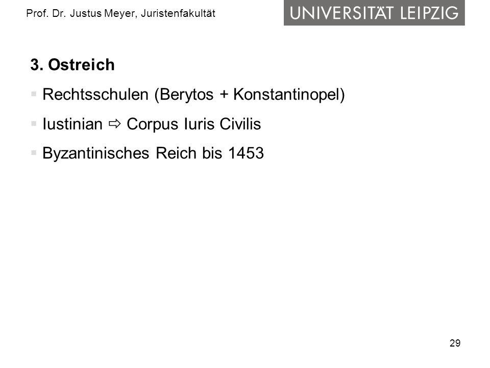 29 Prof.Dr. Justus Meyer, Juristenfakultät 3.