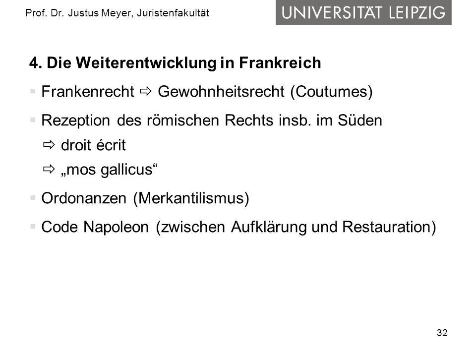 32 Prof.Dr. Justus Meyer, Juristenfakultät 4.