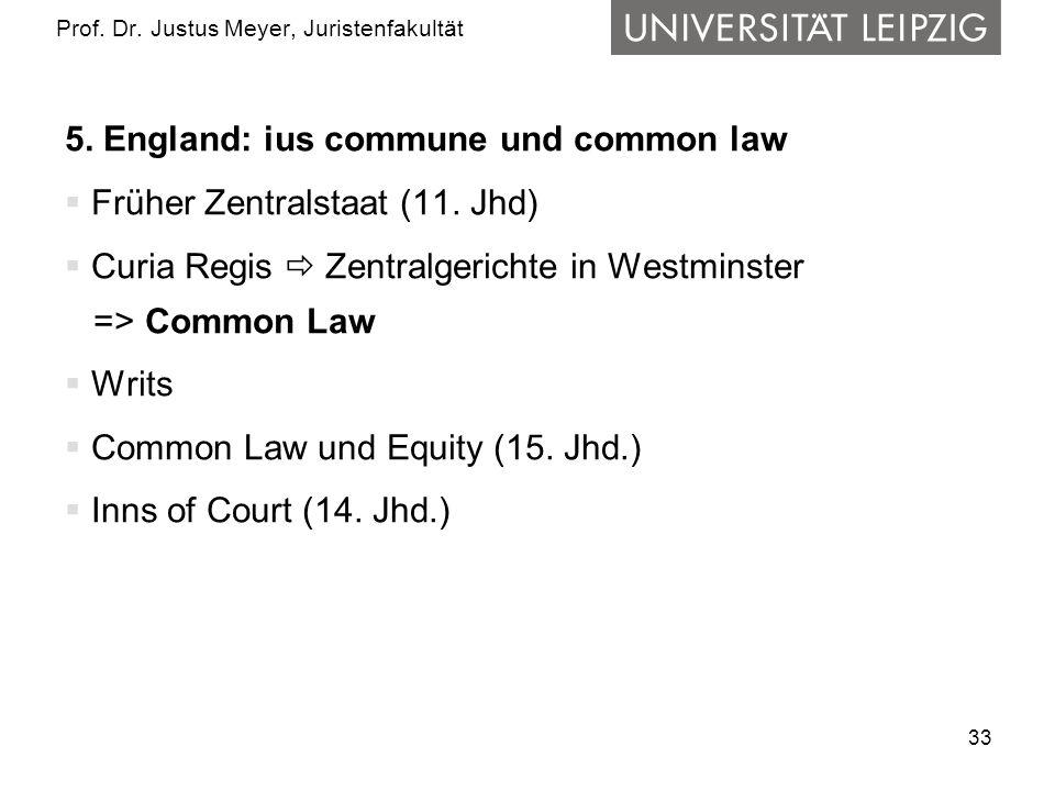33 Prof.Dr. Justus Meyer, Juristenfakultät 5.