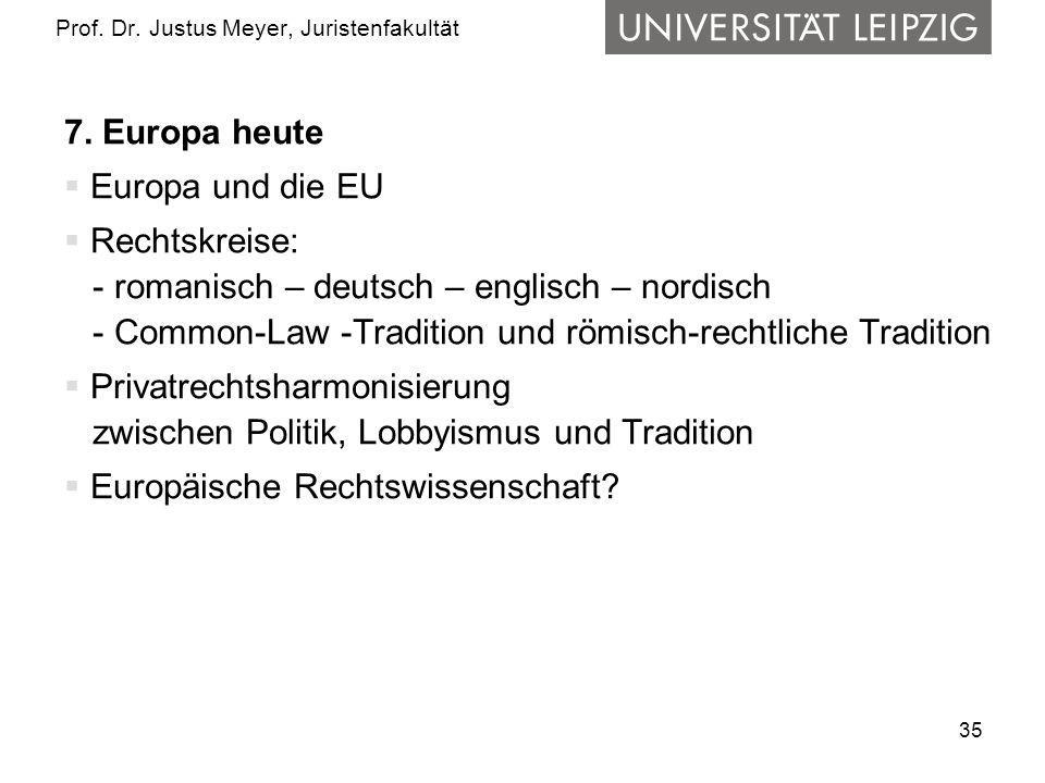 35 Prof.Dr. Justus Meyer, Juristenfakultät 7.