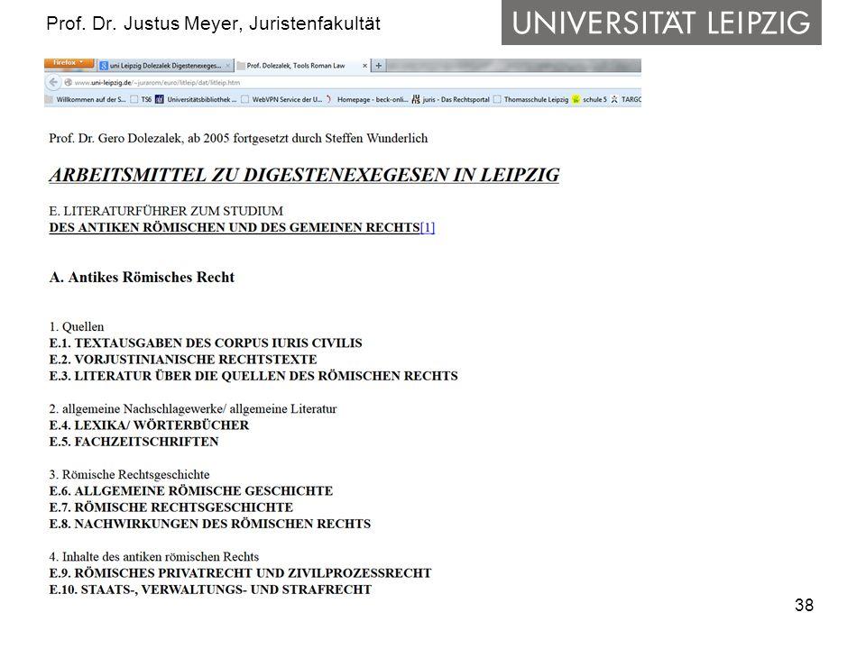 38 Prof. Dr. Justus Meyer, Juristenfakultät