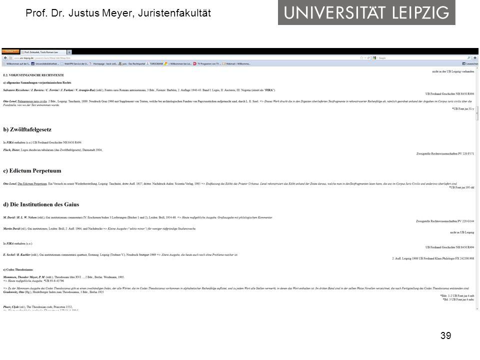 39 Prof. Dr. Justus Meyer, Juristenfakultät